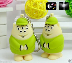 4 x CARTOON FILM MONSTERS INC 5 EYE SCOTT SQUIBBLES KEYCHAIN LED TORCH & SOUND.*
