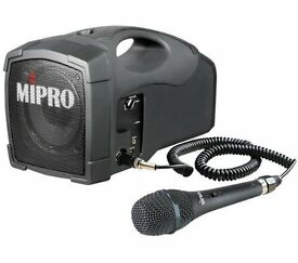 30W Portable MIPRO PA Amplifier With Wired Mic. and Stand.