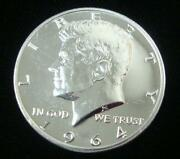 1964 Kennedy Half Dollar Accented Hair