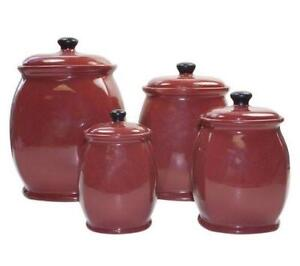 Amazing Red Kitchen Canisters