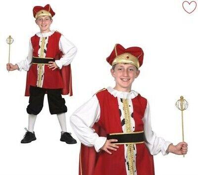 Mittelalterlich König Jungen Kostüm Tudor Buch - Alte Kostüm Buch