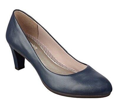 "Easy Spirit Neoma leather pump navy blue anti gravity 2.5 "" heels sz 9 Med NEW segunda mano  Embacar hacia Argentina"