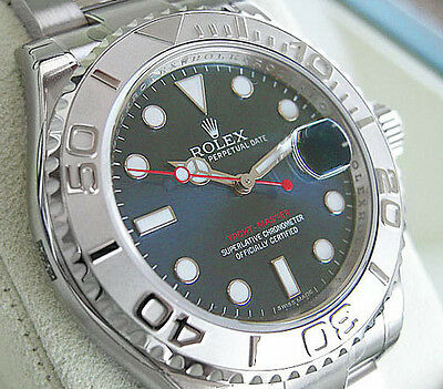 Rolex YACHT-MASTER 116622 Mens Stainless Steel & Platinum Oyster Blue Dial 40MM