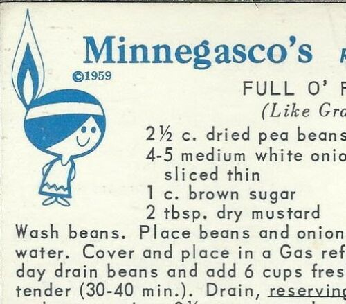 AU-175 Minnegasco Recipe Cards, Group of Twelve 1959 Main, dessert, more