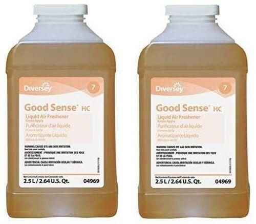 Diversey Good Sense HC 2 x 2.5L J Fill Green Apple Liquid Air Freshener, 904969