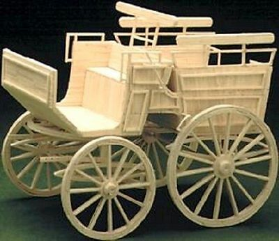 Wagonette Victorian Transport matchstick modelling craft model kit Matchbuilder