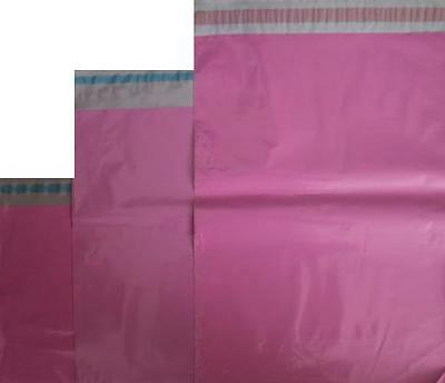 10 STRONG PINK MAILING PACKAGING POSTING POSTAL MAIL BAGS,250 X 350mm, 10