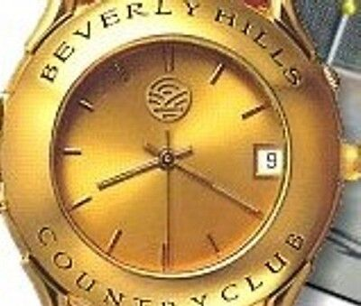 22k Gold-ton (Beverly Hills Country Club Limited Edition Watch in 22K Gold Tone With  Date)