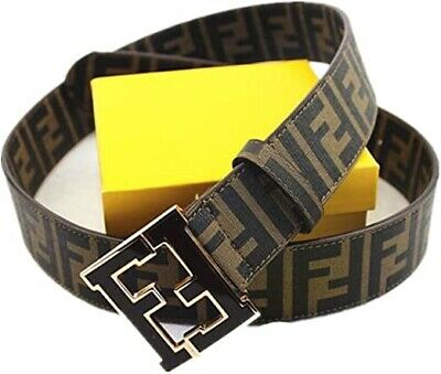 *Authentic* (Brand New) Mens Brown/black Fendi Belt Size: 29-32
