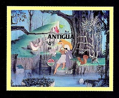 ANTIGUA - 1980 - DISNEY - SLEEPING BEAUTY - FAIRY TALES - MINT S/SHEET!
