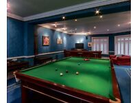 Full Size Snooker Table with cues and set of snooker and pool balls