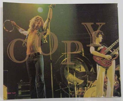 Led Zeppelin / Jimmy Page / Robert Plant / Org.Print 2