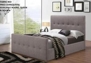 GREY FABRIC BEDS ON SALE : GRAND SALE- 50% OFF (IF49)