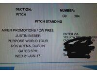 2x Justin Bieber tickets (Dublin 2017)
