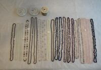 STRANDS OF GEMSTONE BEADS, FINDINGS & NECKLACES