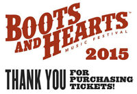 Two Boots and Hearts Music Festival 4 Day Passes