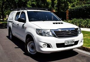 2013 Toyota Hilux KUN16R MY12 SR Double Cab White 5 Speed Manual Utility Medindie Walkerville Area Preview
