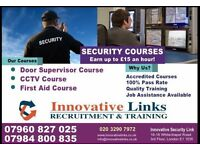 SECURITY (SIA) TRAINING COURSES FROM £85 ONLY..100% PASS RATE..EARN UP TO £15 AN HOUR