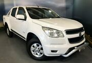2013 Holden Colorado RG MY14 LT Crew Cab White 6 Speed Manual Utility Elizabeth Playford Area Preview