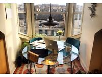 Stunning Office / Desk Space / Meeting Room Edinburgh Can be booked by the day £20 All Inclusive