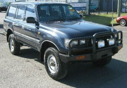 1997 Toyota Landcruiser HZJ80R DX Blue 5 SPEED Manual Wagon Bungalow Cairns City Preview