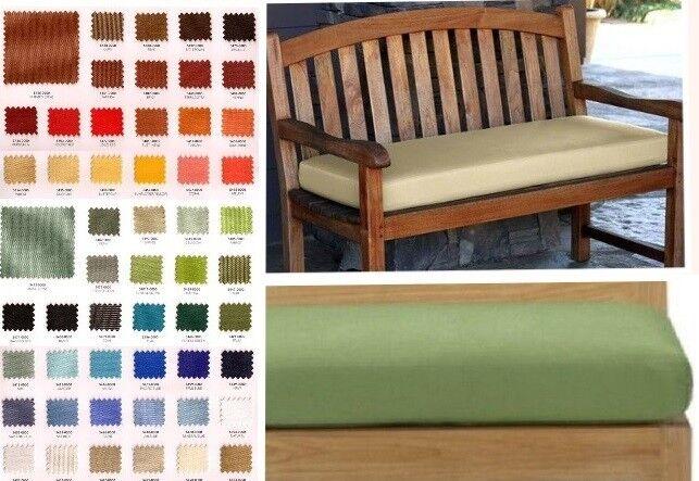 SOLID indoor/outdoor Custom Sunbrella Window/ Bench Cushion
