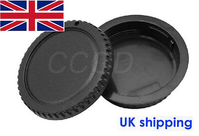 Body + Rear Lens Cap Cover for all Canon EOS DSLR SLR Camera EF-S Lens -UK STOCK