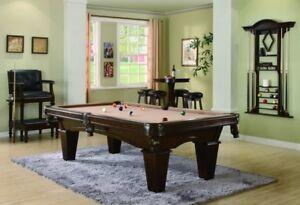 BILLIARD TABLES, SHUFFLEBOARDS, BARS, STOOLS, PING PONG, POKER