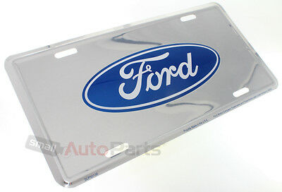 Ford Oval Logo Aluminum License Plate