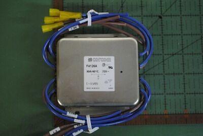 TYCO / CORCOM RFI POWER LINE FILTER F4126A / 2-6609086-0 30A 40c 72V NEW Corcom Rfi Filter
