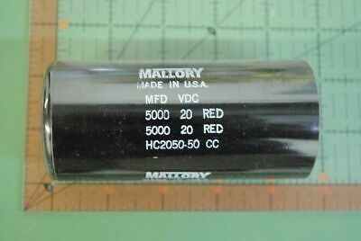 Mallory Motor Start Dual Capacitor 2 X 5000uf 20v Hc2050-50 5000mfd New In Box