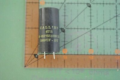 Callins Electrolytic Radial Capacitor 1000uf 15v Dc 16-65pss1000-15s 1000mfd X10