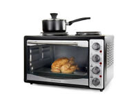 Mini Oven and Grill with Double Hob