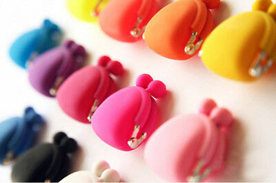 Colorful Candy (Colorful Candy Lady/Girl Rubber Cute Colorful Silicone Coin Bag Purses)