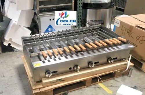 Nsf 48 Ins Gas Shish Kabab Broiler Ssk48kebab Machine Shawarma Turkey Barbecue