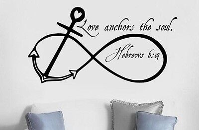 LOVE ANCHORS SOUL Wall Art Decal Quote Words Lettering Home Decor (Love Letter Art)
