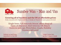 Number Wan - Man and Van CALL FOR THE BEST PRICE IN AYRSHIRE