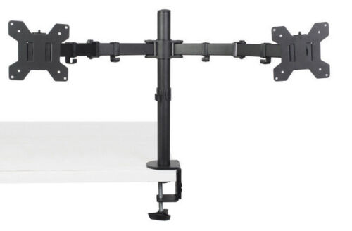 """Dual Monitor Desk Mount Stand Heavy Duty Fully Adjustable Screens 27"""" 33LBS"""