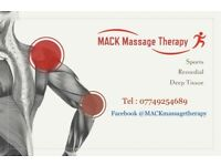 MACK Massage Therapy - mobile massage service in Gtr Manchester
