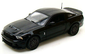 Shelby Collectibles 1/18 2013 Ford Mustang Shelby GT500 Black Diecast SC392