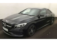 BLACK MERCEDES-BENZ CLA 220 200 180 CDI AMG LINE Coupe SPORT FROM £103 PER WEEK