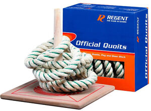 NEW Regent Official Quoits Rope Ring Toss / Wooden Base 6 Quoits, easy to set up