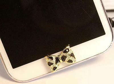 Wholesale 5pc 3D Fashion Diamond Bow Home Button Sticker For Samsung Galaxy,Note