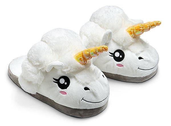 Unicorn Novelty Slippers - Plush Footwear by ThinkGeek