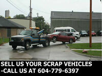 Scrap Vehicle Towing-Sell Us Your Scrap, Car, Van, Truck or Suv
