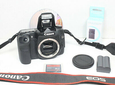 Canon EOS 40D Digital SLR body with Battery, Software, Charger, CF card, strap