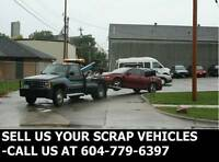 Scrap Vehicle Towing-Sell Us Your Scrap Car, Truck, Van or SUV