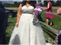 Sincerity 3801 Ivory size 20 wedding dress