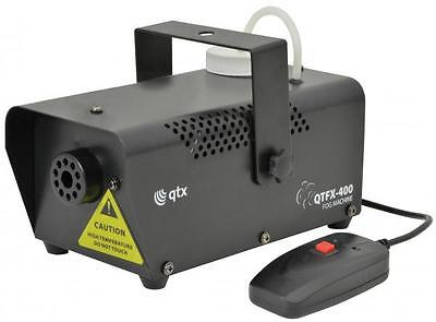 QTX 160.461 QTFX-400 Disco Fog Smoke Mist Haze Machine IEC Remote Control Black