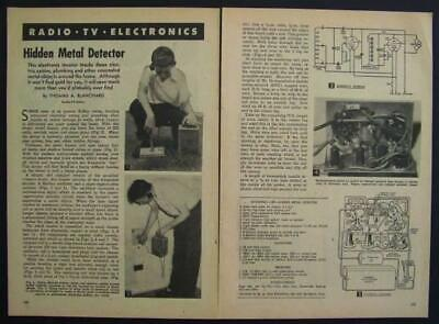 Tube Powered Metal Detector 1954 How-to Build Plans